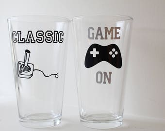 Video Game Pint Glasses