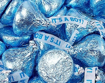 Hersheys Kisses Chocolate Candy - It's A Boy - 1LB Bag