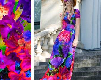 Maxi Dress, Floral Dress, Women Dress, Bohemian Clothing, Fashion Dress, Flower Dress, Floor Length Dress, Long Dress, Bridesmaid Dress