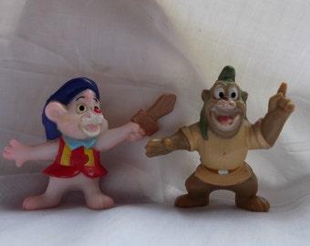 1991 Disney's Gummi Bears Gruffi and Cubbi Kelloggs Cereal PVC