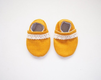 Baby Booties- Sunflower Matka Bootie