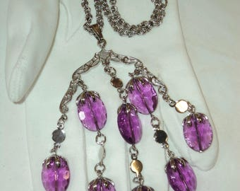 Sara Coventry Purple Wisteria pendant necklace