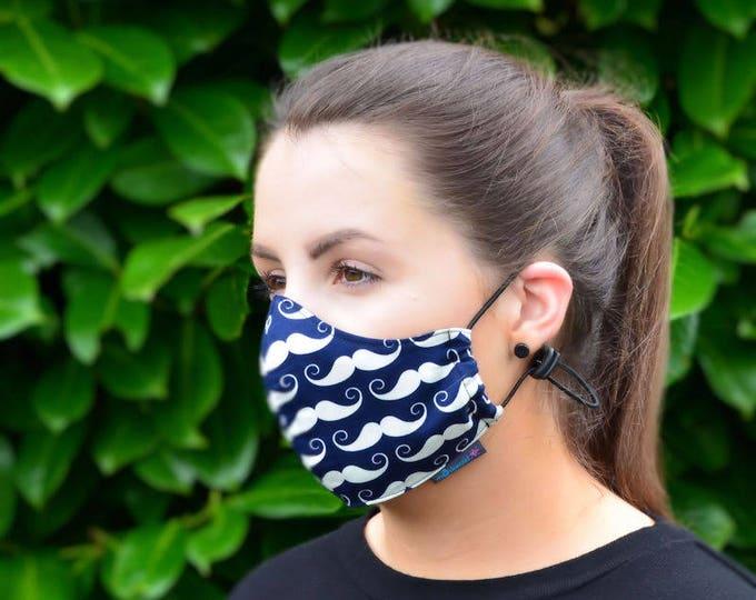 MASKERAID® Moustache Reusable Cotton Face Mask