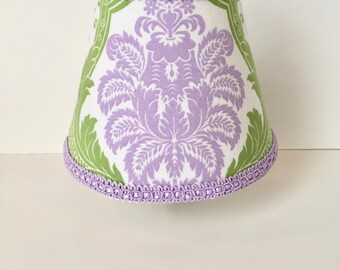 Lavender and Green Damask Night Light (READY TO SHIP)