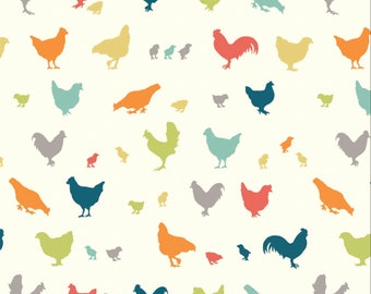 Farm Fresh - Hen and Friends Multi from Birch Fabrics