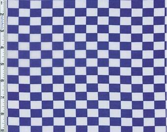 Royal Checkered Print Chiffon, Fabric By The Yard