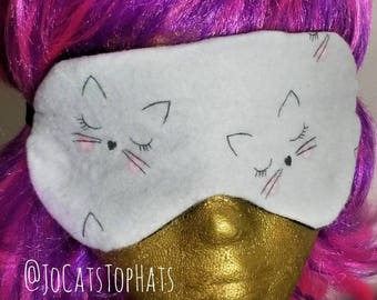 Sleepy Kitty Sleep Mask Eyewear Grey Kitties Cat