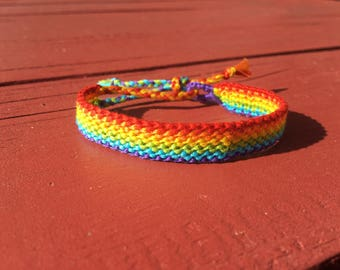 Traditional Rainbow - Pride - Love - LGBTQ - Support Friendship Bracelet