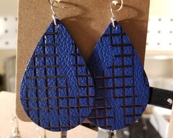 Checkered Blue and Black