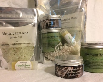 Men's Spa in a Bag,Gifts,Fathers day,moisturizing,Brendadsoap,spa.
