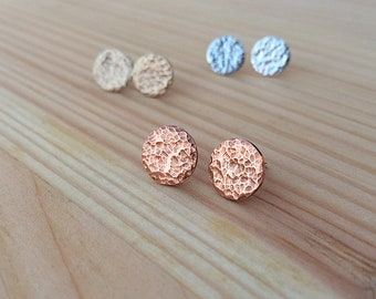hammered stud earrings | stud earrings | sterling silver stud earrings  | jewelry for her