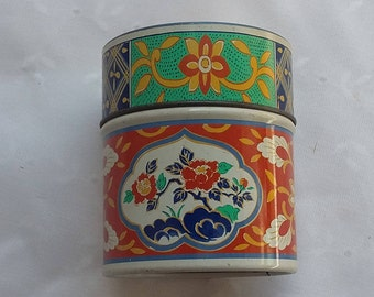Small Tin Storage Container Decorative Trinket Canister