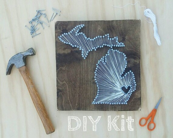 Diy michigan string art kit state string art kit michigan freerunsca Images