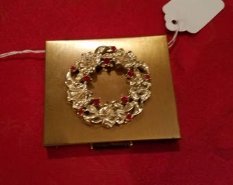 S.F Park Avenue Jewelled Powder Compact with mirror