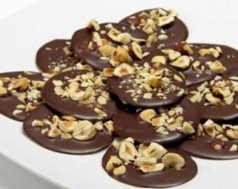 Belgian Chocolate Hazelnut Mendiants (1/2 lb.)