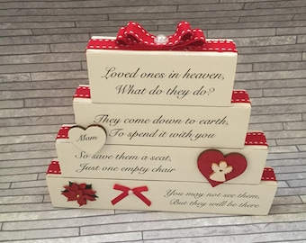 Christmas Lost Loved Ones Memory Blocks Stack *LAST ONE*