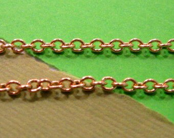 Gold Plated 2.7mm Cable Chain - 3 feet