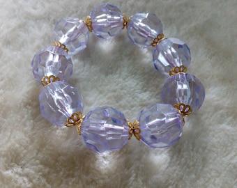 Large Bead Bangle Bracelet
