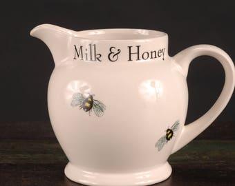 Arthur Wood, England, Milk & Honey Pitcher, 16 oz.