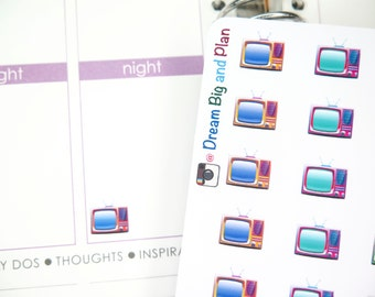 Colourful TV Planner Stickers! DBP116