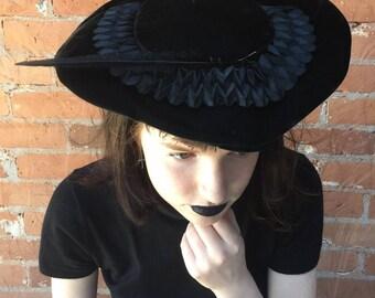 1950s Velvet Vintage Hat
