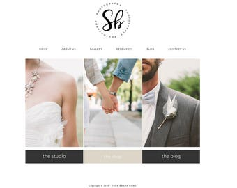 Wordpress Theme & Brand Suite - Sarah