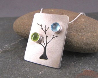 Birthstone Necklace - Custom Family Tree Necklace - Mothers Birthstone Necklace