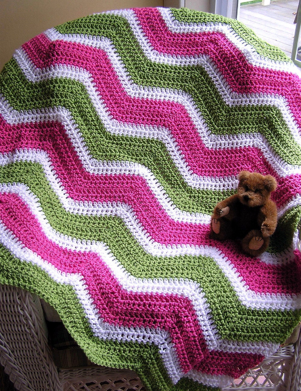 neue Chevron Zick Zack Baby Decke afghanischen wickeln Schal