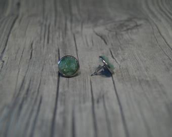 Ear studs mintfarbener Crystal