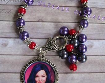 Girls bracelet Evie Mal bracelet Disney descendants Bracelet girls Jewerly Descendants birthday Gift bracelet Girls bracelet Bracelet beads