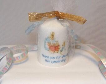 Beatrix Potter Peter Rabbit Baby Shower Candle Favors