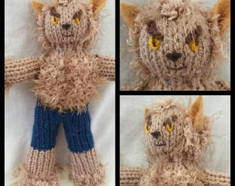 WEREWOLF - Knitting PATTERN - to create your own werewolf. Makes a great gift for BIRTHDAYS Halloween or Christmas.