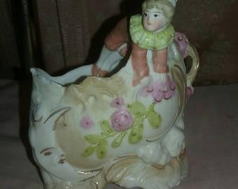 Tiny Clown Elf porcelain figure