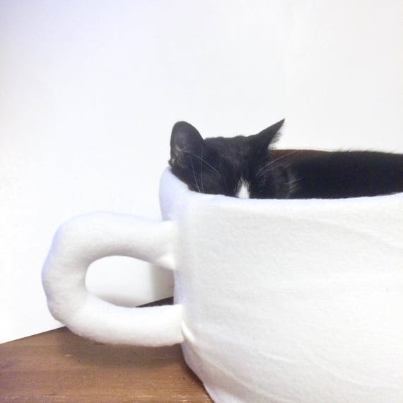 Cup of Coffee Cat Bed