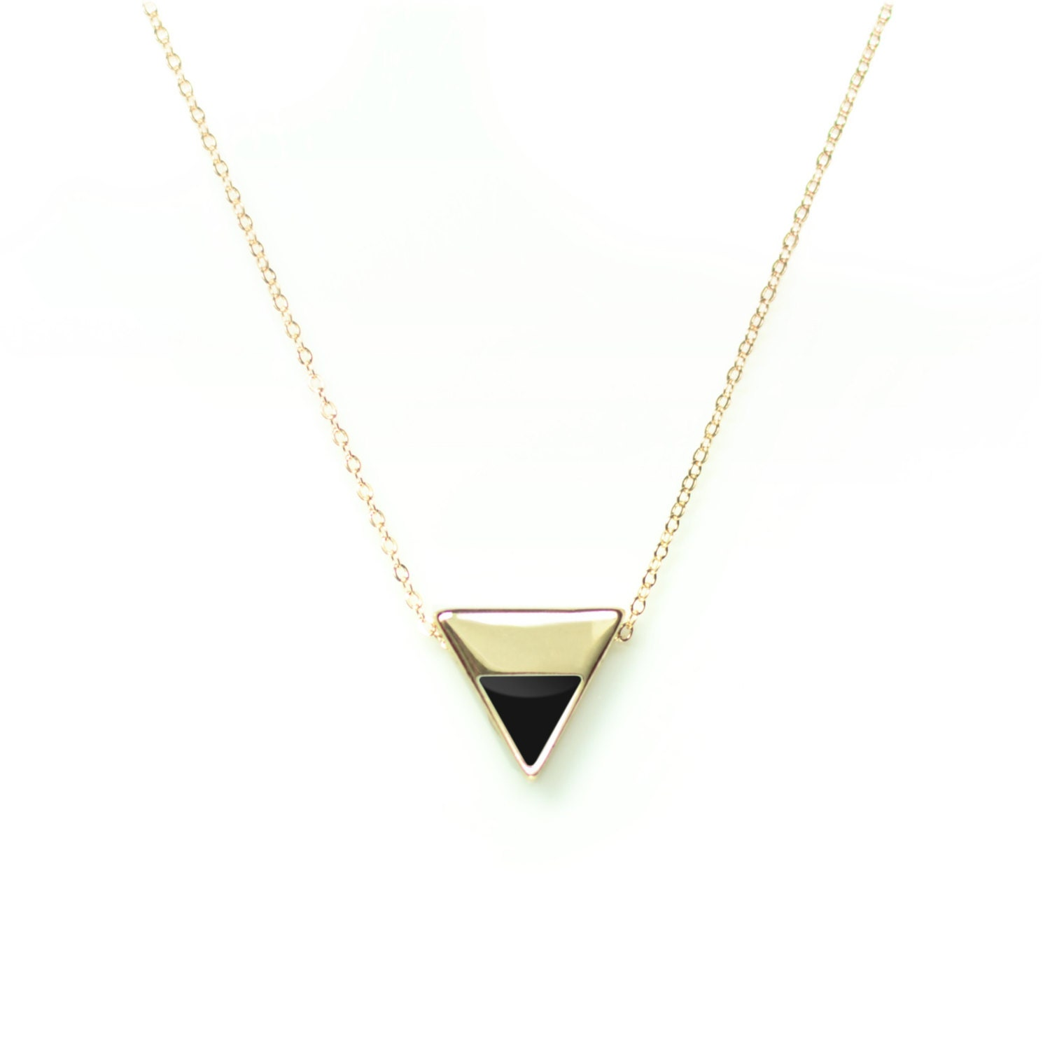 Triangle necklace geometric necklace simple gold necklace zoom aloadofball Images