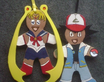 Anime' baked clay gingerbread ornament