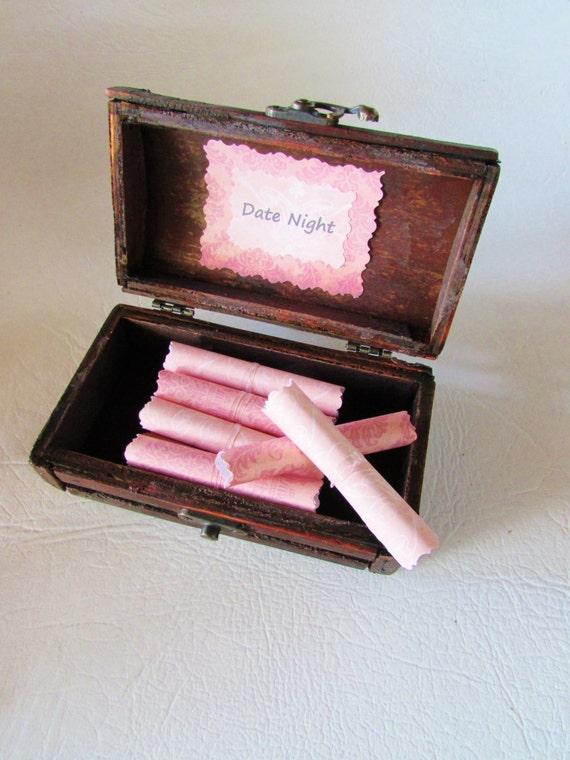 Girlfriend Gift Idea, Wife Gift Idea, Gift Idea for Her, Girlfriend Anniversary, Wife Anniversary, Date Night Scroll Box, Date Night Ideas
