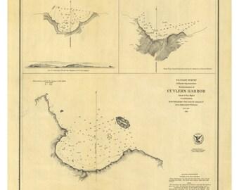 San Clemente Bay 1852 Nautical Map  -  PC Harbors 607 Reprint California