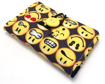 Fabric Card Holder - Smilies/ Emoticons