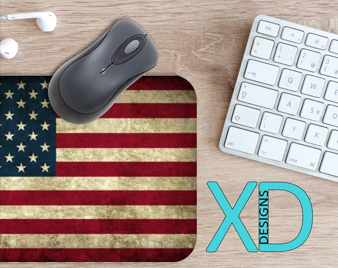 Patriotic Mouse Pad, Patriotic Mousepad, America Rectangle Mouse Pad, Red, White, Blue, America Circle Mouse Pad, Patriotic Mat, Computer