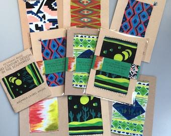 Au milieu du siècle tapis sud-ouest imprimer + Zine Gift Set