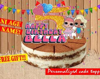 Digital Lol doll toppers| Lol dolls party birthday| printable Lol doll cake toppers|  Lol dolls decor| Lol dolls children party