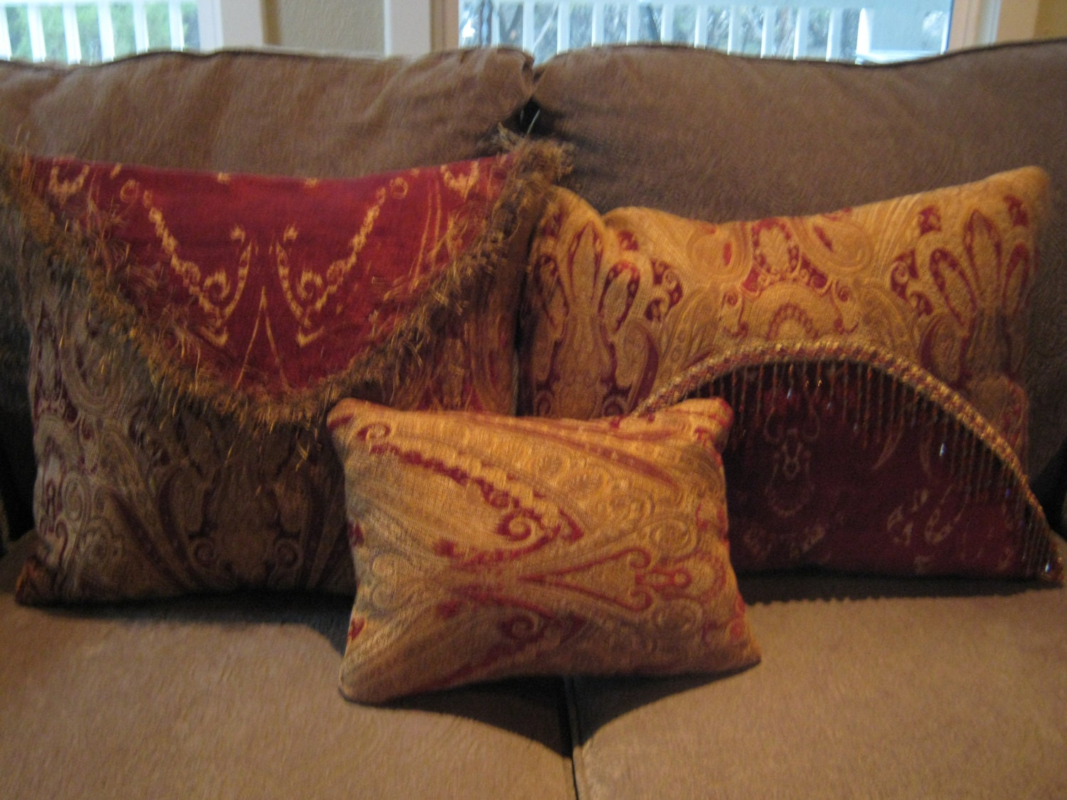 Throw Pillows Set Of 3 Home Decor For Bedroom Sofa Chair Couch ~ How To Coordinate Throw Pillows For Sofa And Chairs