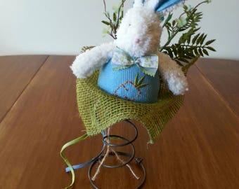 Easter Bunny floral arrangement - Bed Spring - Blue