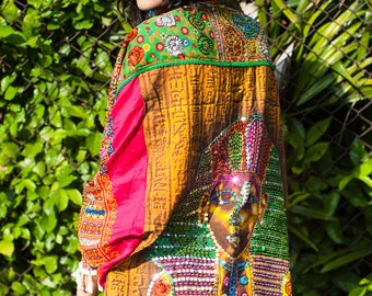 One of a Kind Sequined Festival Jacket