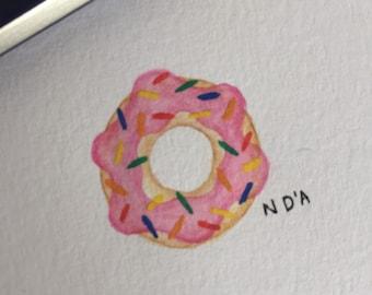 Watercolour doughnut