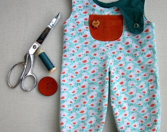 """Doll Overalls - PDF Sewing Pattern and Tutorial by Petit Gosset - 18-20"""""""