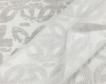 Textured French Terry Knit Fabric By the Yard (Wholesale Price Available By the Bolt) USA Made Premium Quality - 6015PC1 - 1 Yard