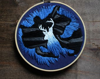 Harry Potter | Patronus and Dementor Embroidery Hoop