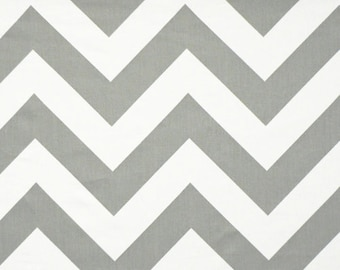 Large grey Chevron Fabric by the Yard Home Decor Zippy storm white zigzag Premier Prints - 1 yard or more - SHIPS FAST